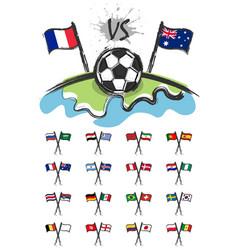 Football on the world vector