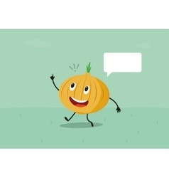 Funny onion have a brilliant idea vector