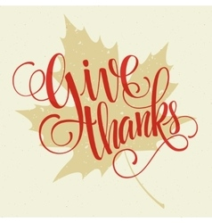 Happy Thanksgiving lettering background vector