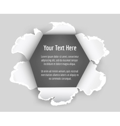Hole in sheet paper vector