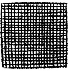 irregular black stripe grid pattern over white vector image
