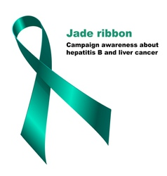 Jade ribbon vector