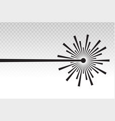 Laser beam ray icon on a transparent background vector