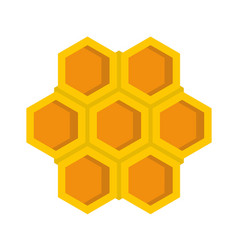 Little honeycomb icon flat style vector