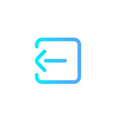 log in icon sign symbol vector image