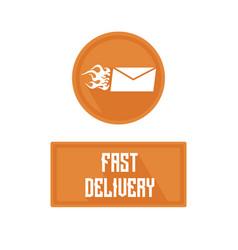 logo of fast delivery emblem hot letter vector image