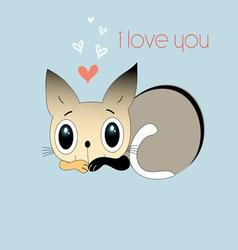 love kitten vector image