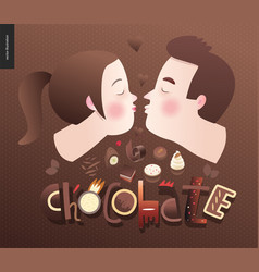 Love spring chocolate vector