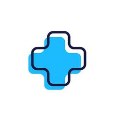 medical logo icon line outline vector image