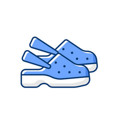 Medical shoes rgb color icon vector