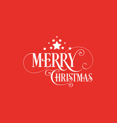 merry christmas unique hand-drawn typography with vector image