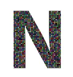 Multicolor letter N vector