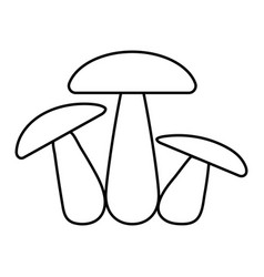 mushroom family icon three mushrooms sign vector image