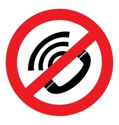no sound icon Phone vector image