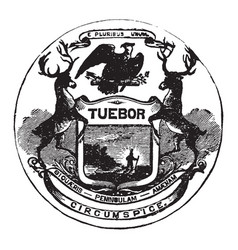 Official seal of the us state of michigan vector