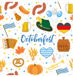 Oktoberfest seamless pattern october fest in vector