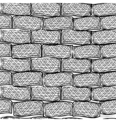 Old bricks seamless doodle style vector