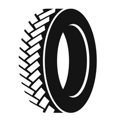 One tyre icon simple style vector