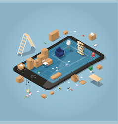 online moving planning vector image