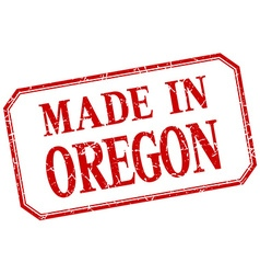 Oregon - made in red vintage isolated label vector