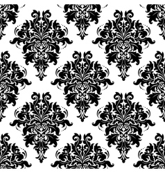 Ornate bold foliate seamless pattern vector