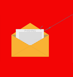 phishing email icon flat phishing email eps vector image