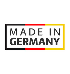 Quality mark made in germany colored symbol vector
