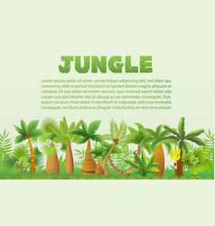 rainforest palm trees with other tropical vector image