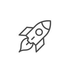 rocket line icon vector image