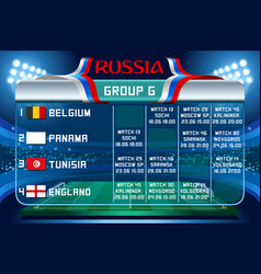 Russia world cup group g wallpaper vector