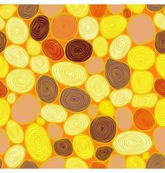 Seamless circles hand-drawn pattern circles vector image vector image