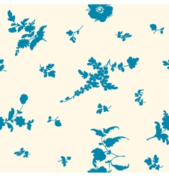seamless silhouette flower vector image