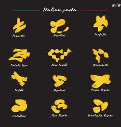 Set italian pasta two vector