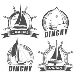 set logos for sailing vector image