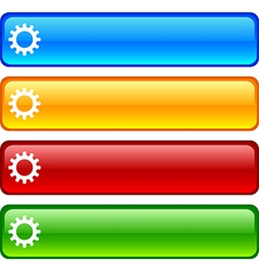 Settings buttons vector image