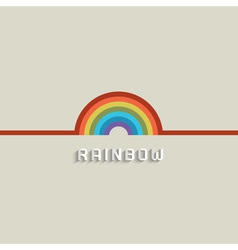 Stylish rainbow design vector