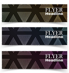 textural banners in grunge style vector image