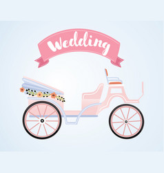 the carriage for true princess vector image