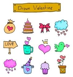 Various valentine element art vector