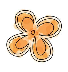 Watercolor flower cartoon vector