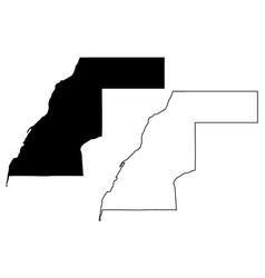 Western sahara map vector