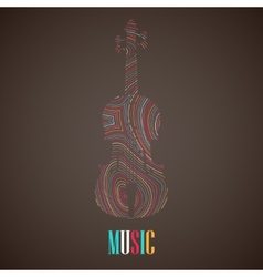 with the multicolored violin vector image