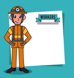 Workers and jobs cartoon vector