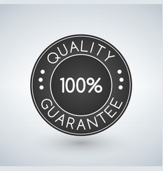 100 quality guarantee sticker or label vector image