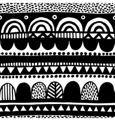 Black and white ethnic seamless backdrop vector image