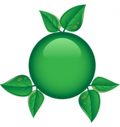 eco button vector image vector image
