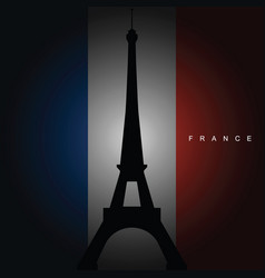 france flag with sign vector image vector image
