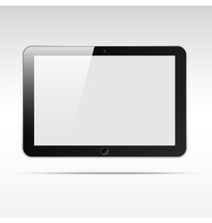 Realistic tablet isolated on light background vector image