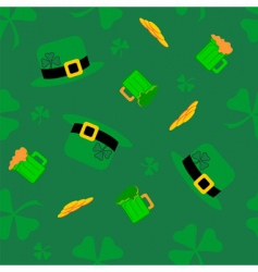 Saint Patrick's pattern vector image vector image