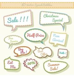 speech bubbles 3d with sale text vector image